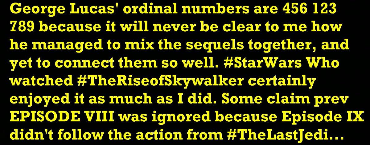 #StarWars #TheRiseofSkywalker #TheLastJedi #GeorgeLucas Film #Actors & #Movies @starwars @IMDbpic.twitter.com/89PLNo6XK1