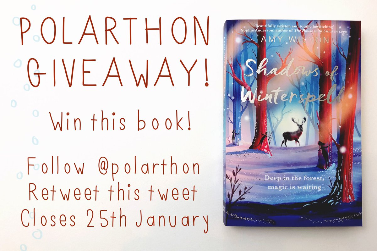 ❄️GIVEAWAY!❄️ Ready for another Giveaway? You could win Shadows of Winterspell by Amy Wilson! Make sure you're following us @polarthon, and retweet this tweet! (Quote tweets won't count as I can't track them) Open internationally and closes on 25th January! Good luck!🌨