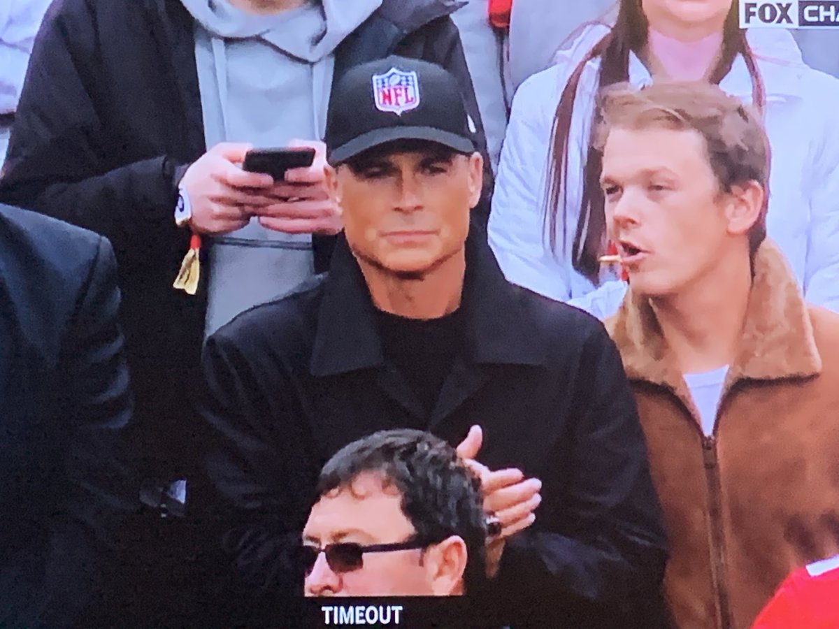 Some people cheer for a team. Rob Lowe cheers for the Shield.