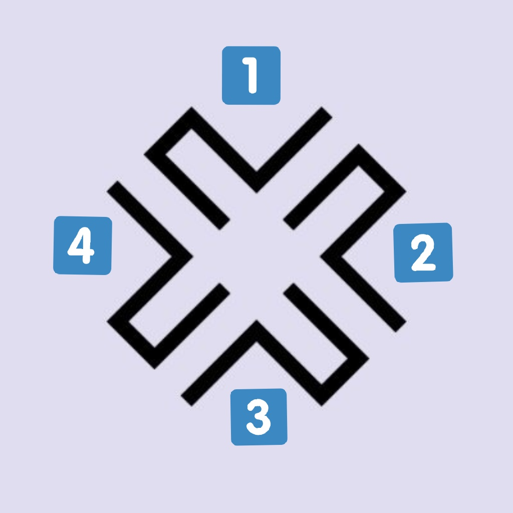 The new logo is really versatile and show all the concepts of the album just moving the pieces. For example, the first figure shows 'Twisted' (twisted paths), in the second 'Room' (closed and small space) and in the last 'Crossroads' (corridor encounter) #回_LABYRINTH #GFRIEND<br>http://pic.twitter.com/nL9gQr0pQ5