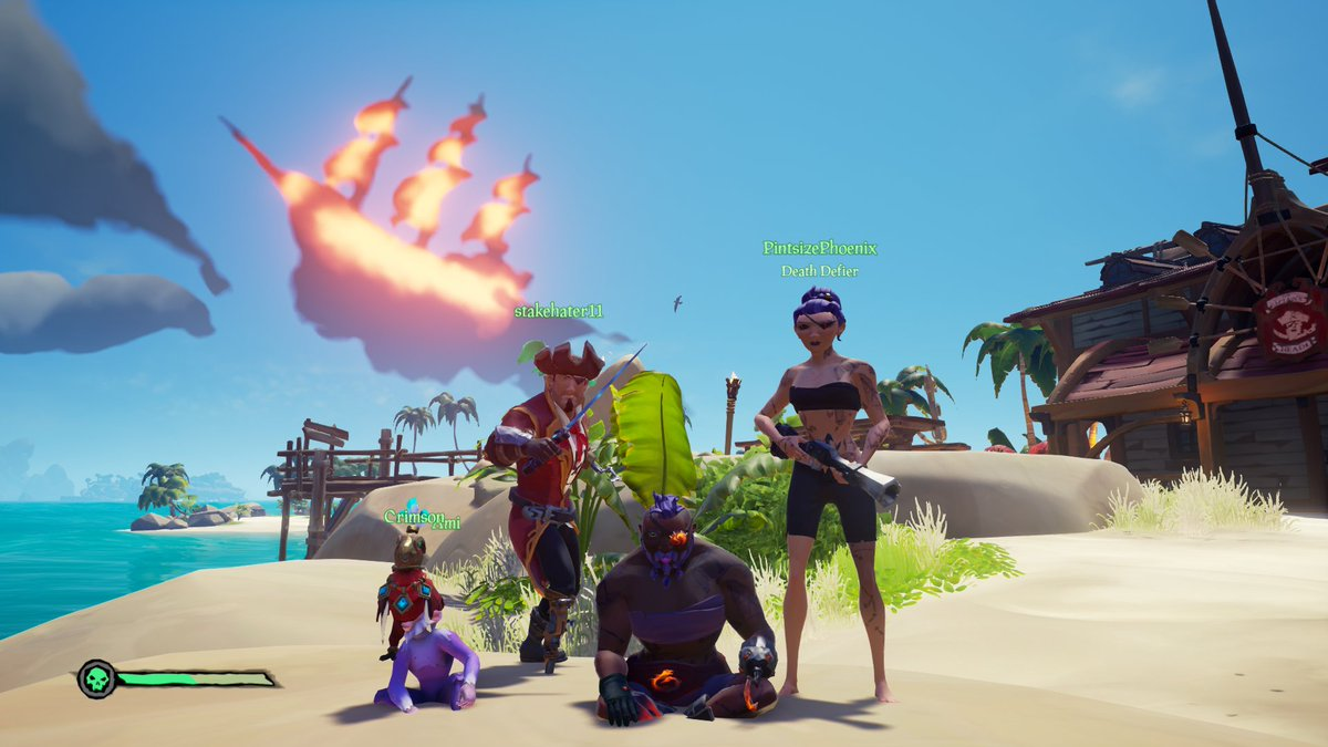 On that fateful day, the dread pirate, Captain Nakey Dergen sailed the high seas with their stalwart 1st mate Stake'ems & their pirate waifu, the great swashbuckler, Firebird!  #SeaOfThieves #SoT #pirates #sailing #RareGames #Rare #HobbleDragon #Twitch