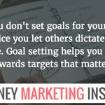 Image for the Tweet beginning: If you don't set goals