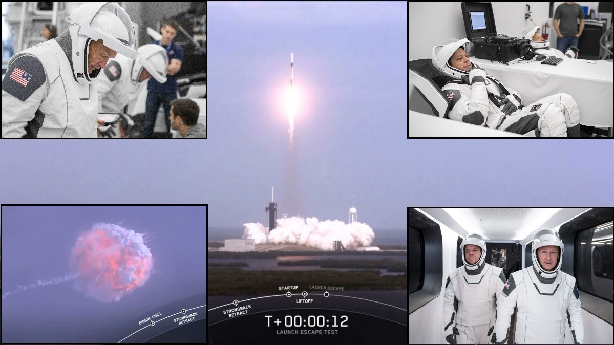 CAPE - Rocket failure, astronaut ejection practiced as astronauts Behnken & Hurley prepare for the ISS mission. NASA & SpaceX displayed safety & system reliability today in the worst case scenario. The two men may launch as early as March. http://www.leftseat.com  #pilot #fitness