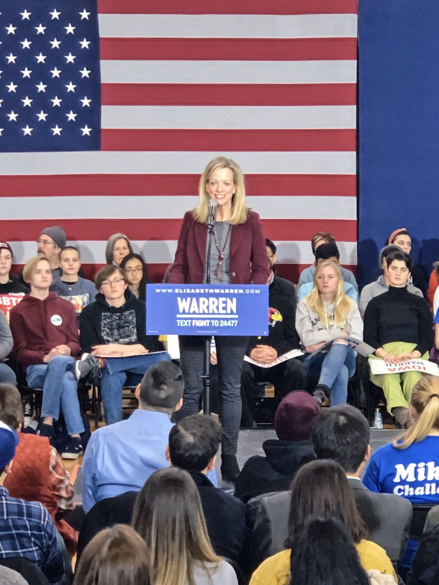 I will be standing with @ewarren at the #iacaucus on Feb. 3. She has a vision for fundamentally changing how we show up for one another in this country. I love her plans to improve maternal health care, fight corruption & get our economy working for everyone again. @IAforWarren<br>http://pic.twitter.com/KdLKBdSlqh