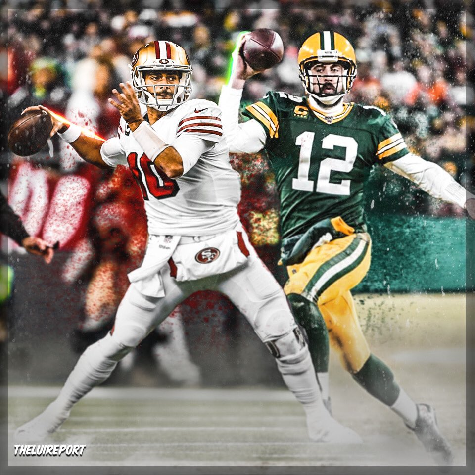 Game 2 is later today! I got the 49ers over the Packers by a lot! What do y'all think? Who do you wan to see win?  #nfl #nflplayoffs #nflfootball #packers #49ers #jimmygaroppolo #aaronrodgerspic.twitter.com/0pvb45hsht