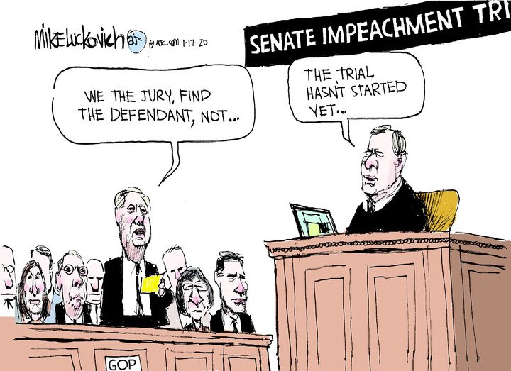 What do you do when the jurors are corrupt? You #VoteBlue2020 and remove the republicans.  #Impeachment  #LindseyGrahamIsACoward  #MoscowMitchMcConnell  #ComplicitCorruptGOP<br>http://pic.twitter.com/6iHk9hp1HZ