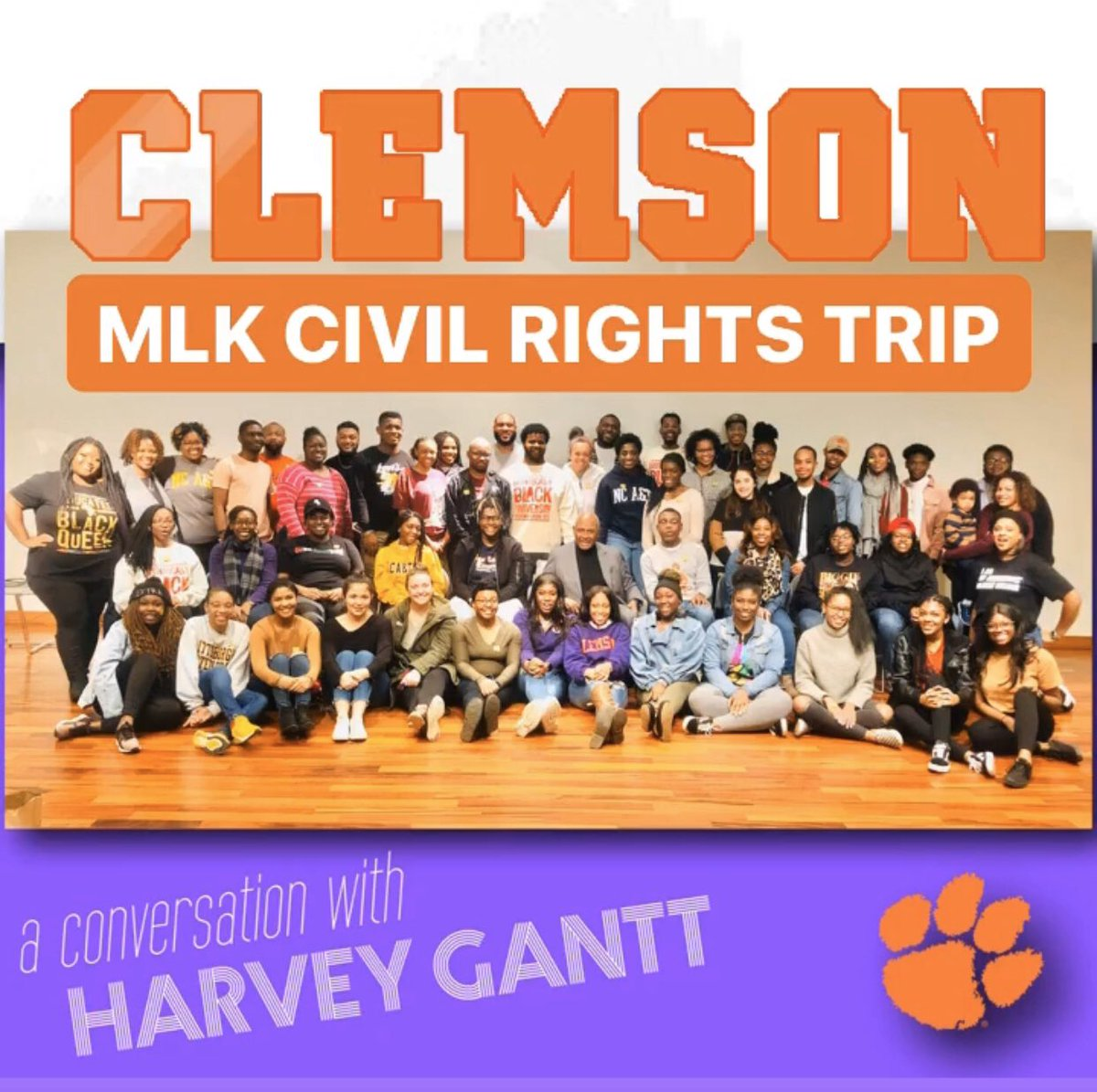 DAY 3 : GANTT CENTER FOR AFRICAN AMERICAN ARTS & CULTURE : with a SURPRISE appearance by Mr Harvey B Gantt, FAIA  : Clemson Univeristy MLK Civil Rights Trip 2020 - #ClemsonMLK #ClemsonMoments #ClemsonFamily  <br>http://pic.twitter.com/3a0Oxw0CHx