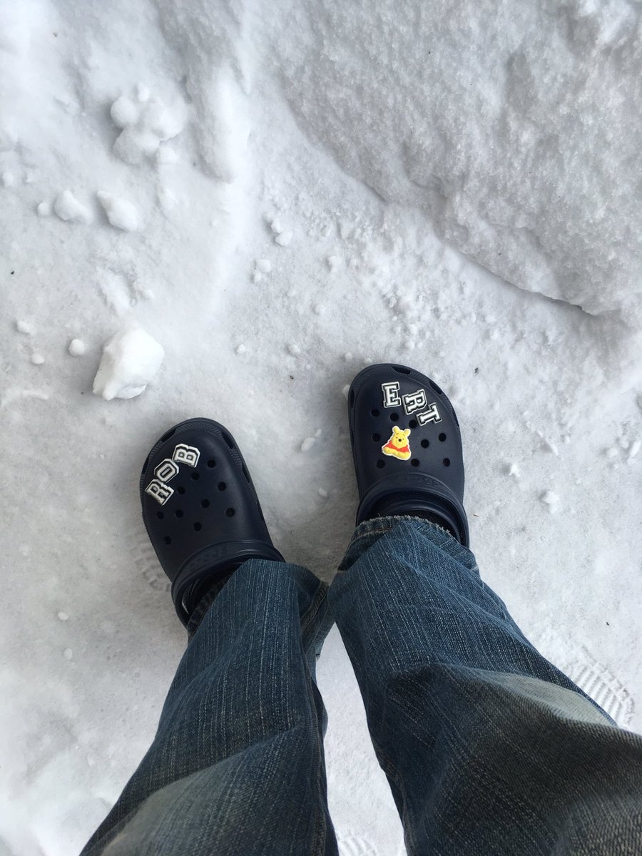 #ProTip One's winter Crocs experience is heavily influenced by whether or not one chooses to wear socks
