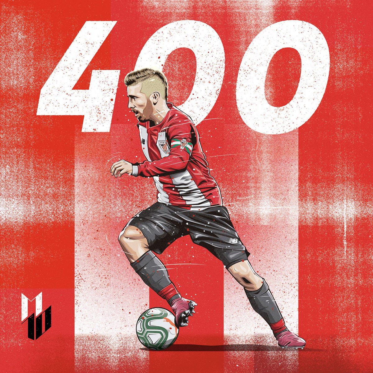 Orgulloso y feliz por jugar mi partido 400. Gracias por todo @athleticclub