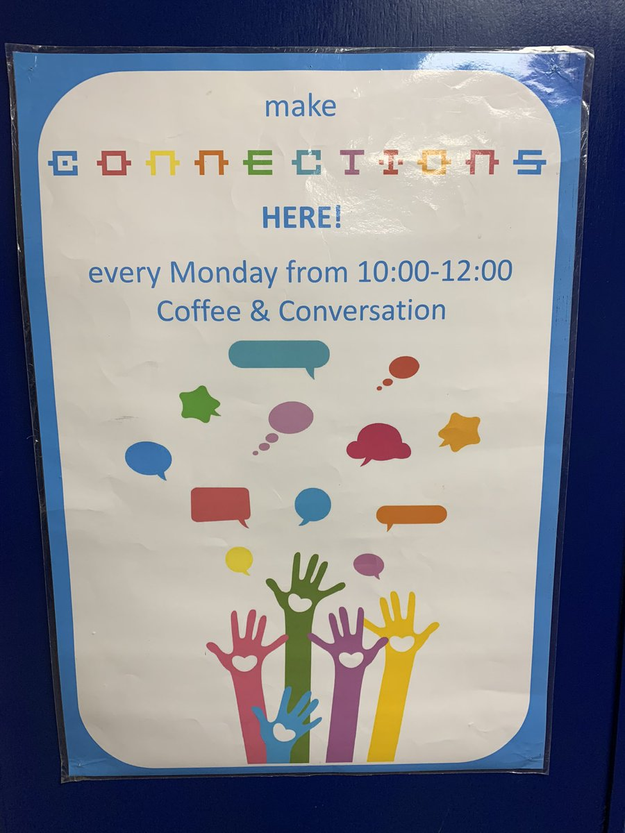Connections Cafe is open tomorrow, Monday 20th January from 10am-12noon in the main hall at Dundee Meadowside St Paul's @churchscotland The cafe offers a place for new Scots to meet up, make new friends and practice speaking English. More info at