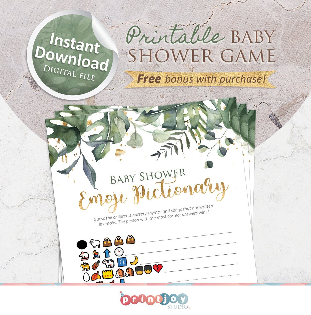 Delight your guests with this printable baby shower game!  You can instantly purchase and download this game here!  >> https://etsy.me/3akptxD<< Check out the brand new Emoji Pictionary game in our Etsy shop!  #BabyShowerGames #BabyShower #BabyShowerIdeas #PrintJpic.twitter.com/3qm6xlQTpP