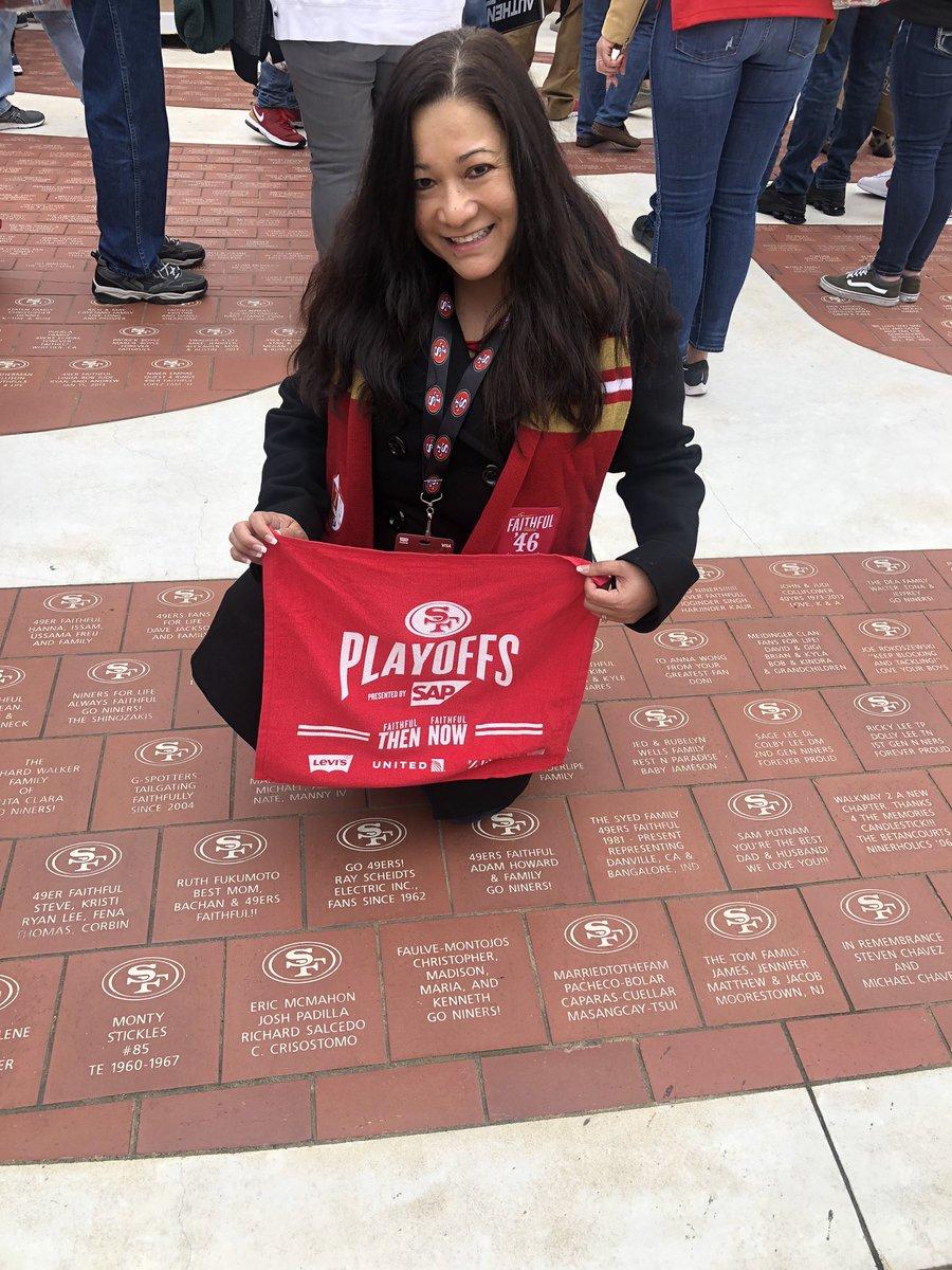 #GoNiners #AlwaysBeCelebrating #BeLegendary #BeatThePackers #49erFaithful #SF49ers #Playoffs2020 @49erspic.twitter.com/EsLYIi3Gl3 – at Levi's Stadium