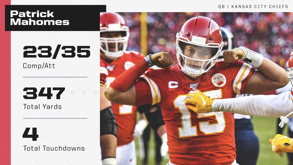 Patrick Mahomes was DOMINANT in leading the Chiefs to the Super Bowl 💪