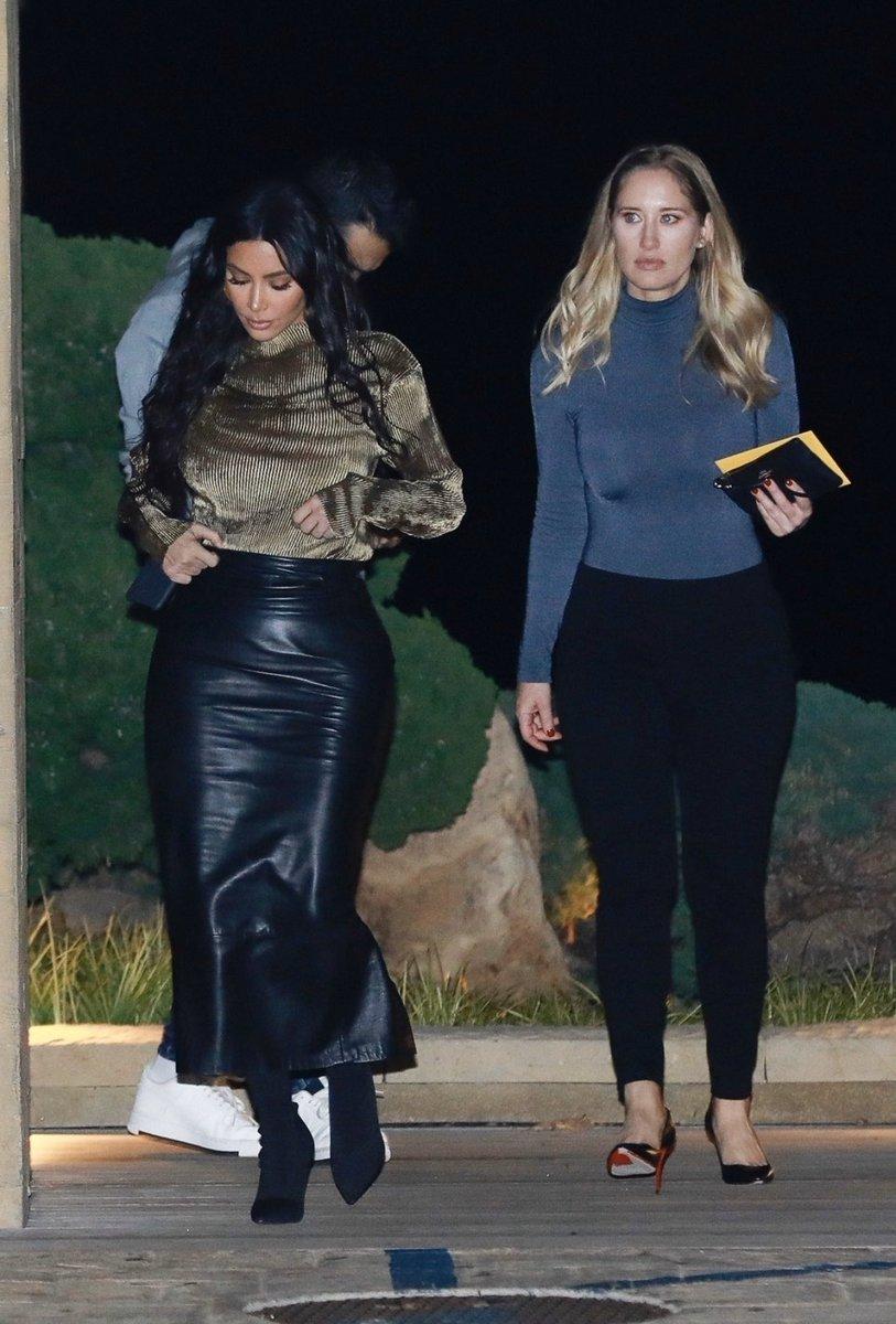 Kim & Jessica leaving Nobu Restaurant in Malibu, CA on January 18, 2020.