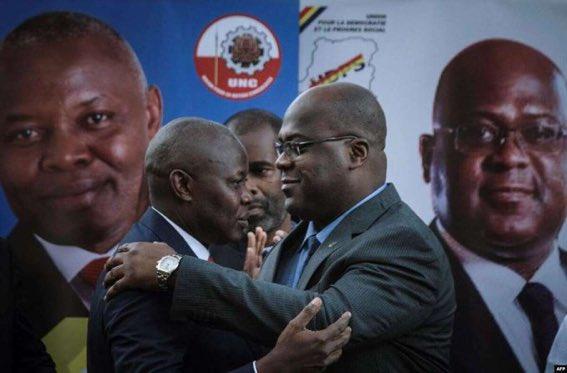 À Genève les autres nous ont trahi mais @VitalKamerhe1 m'a tenu et soutenu à Nairobi jusqu'à notre victoire dixit le Président de la République Félix Antoine Tshisekedi. Un message fort aux ennemis du duo fatshivit! pic.twitter.com/Puyi7tio73
