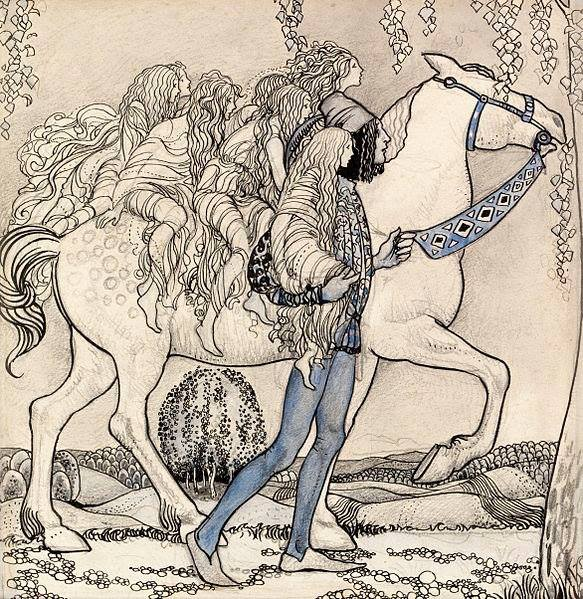 'He Led the Horse by the Bridle and They Traveled Through the Forest' John Bauer