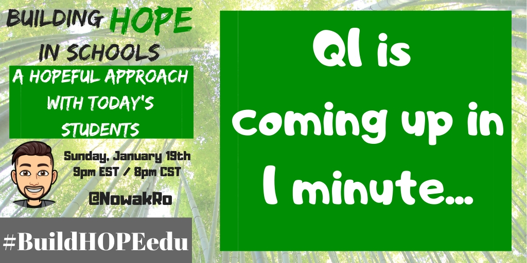Q1 is coming up in 1 minute... #BuildHOPEedu