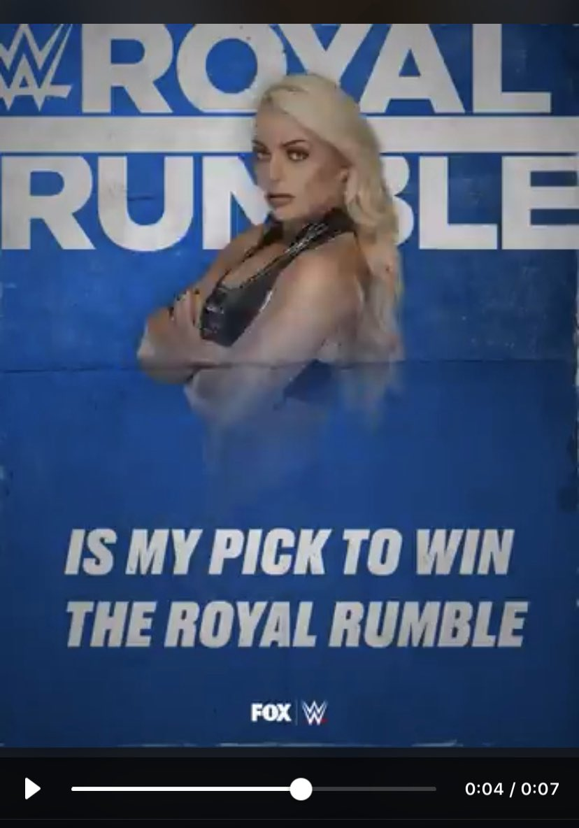@WWEonFOX @WWE_MandyRose... YES!!! I landed on Mandy, I Want her to Win the #RoyalRumble ~ #WomensRoyalRumble
