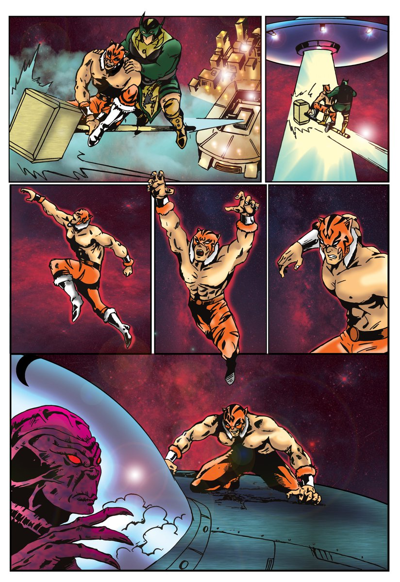 @TheWildestCat @Thunderfrogger I have worked on comics since 2011. This is probably the best page I have ever produced. I see galactic tag team champions coming up here soon. #muhammedali vs #superman style comicpic.twitter.com/4pMUh2mFSq