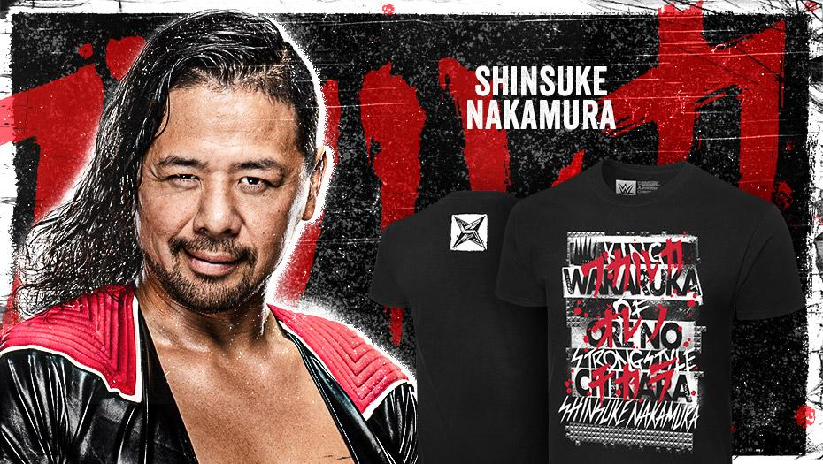Get the new #ShinsukeNakamura tee today at #WWEShop! #WWE