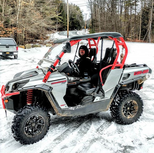 Trimming the @mulleyville_snowmobile trail down to County route 10 with @badharley90 cold morning but plenty of work kept us warm! #canamcommander #lifeoutdoors #bringonthesnow  #adventure #snow #ski #skiing #canam #winter #commander #werebuiltforthis #canamoffroad  @mattie_r22