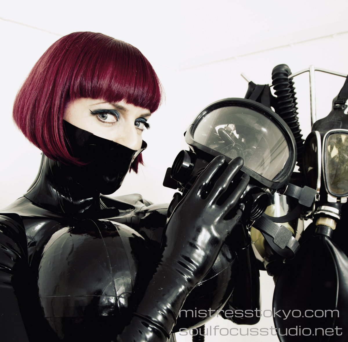 #picoftheday Check My pic by Soul Focus Studio! I'm wearing latex made by Me with My huge megagboobs, with some of My favourite gas masks!  #mistresstokyo #soulfocusstudio #sydneymistress #rubbermistress #dominatrix #fetishboots #australianmistress #latex