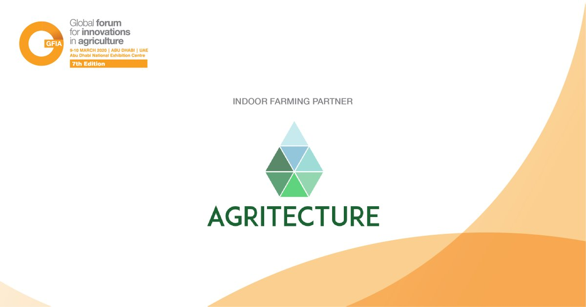 Thank you to @agritecture for joining us as our Indoor Farming Partner for #GFIAMENA 2020. Read more about them here: https://bit.ly/2GT4aXB   #instasalon #farminginuae #instafarming #farming #instafood#farmers #instahealth #agrotech #instamacron #agriculture_globalpic.twitter.com/FIVR1tCd6O