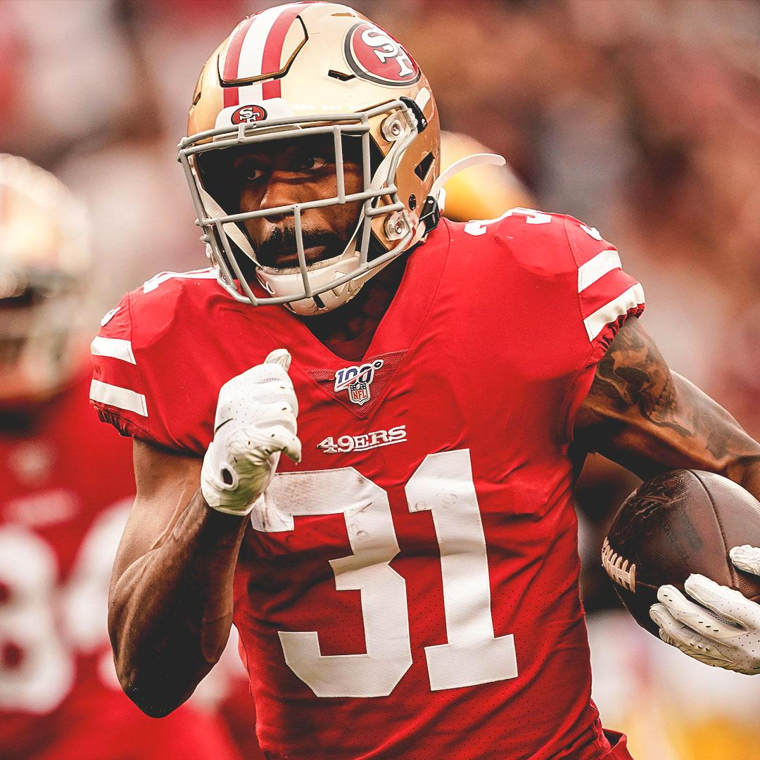 Raheem Mostert has passed Colin Kaepernick (2012) for the most rush yards in a postseason game in 49ers history.