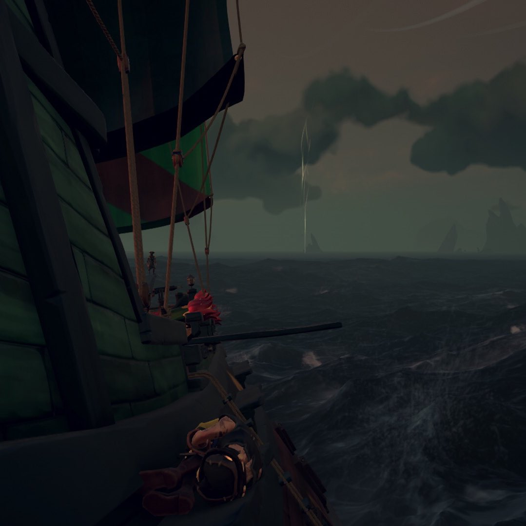 20 minutes tucked on a galleon and I fell off trying to jump to the back of captain quarters to steal the reaper 😂😂 #SeaOfThieves #BeMorePirate @SeaOfThieves @RareLtd