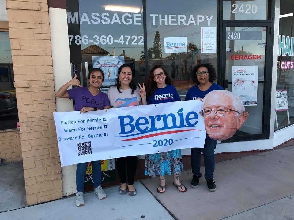 Fantastic day phone banking to Iowa from Hollywood, FL! Thank you Isabel for hosting and to the parents for offering their store front for the political revolution! #FloridaForBernie #IACaucus #NotMeUs #Bernie2020<br>http://pic.twitter.com/XdWoSzp2dp