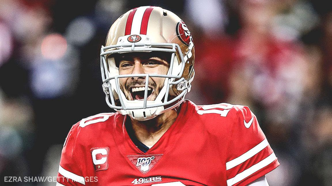 8 pass attempts, 77 pass yards and 1 trip to the Super Bowl for Jimmy G! 😄