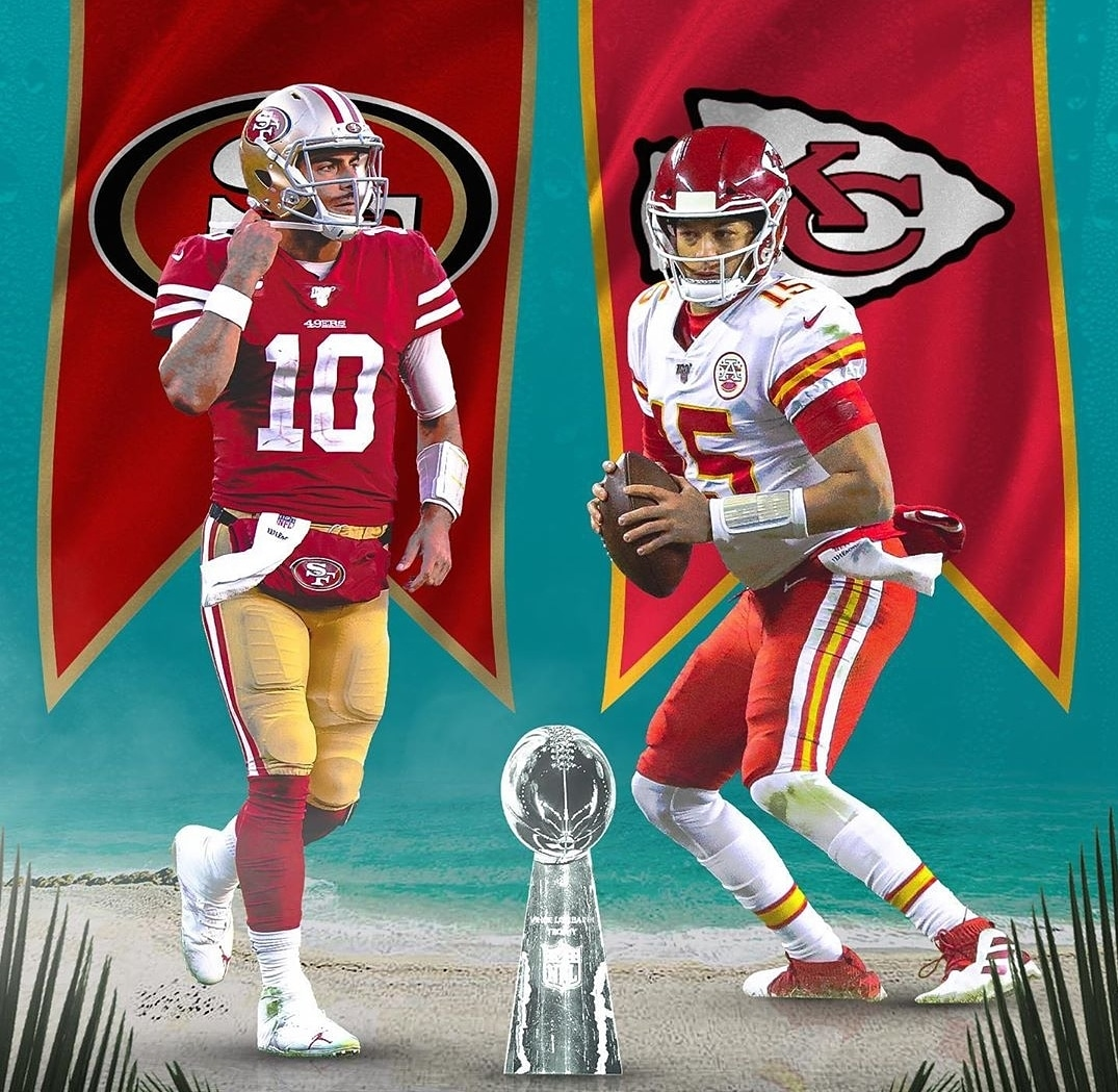 Super Bowl LIV is set! Congrats @chiefs and @49ers  . . . . . #49ers #superbowl #chiefs #patrickmahomes #mahomes #jimmyg #jimmygaroppolo #mostert #tyreekhill #georgekittle #traviskelce #richardsherman #sbliv #superbowlbound #miamipic.twitter.com/E1bx0yJLXY