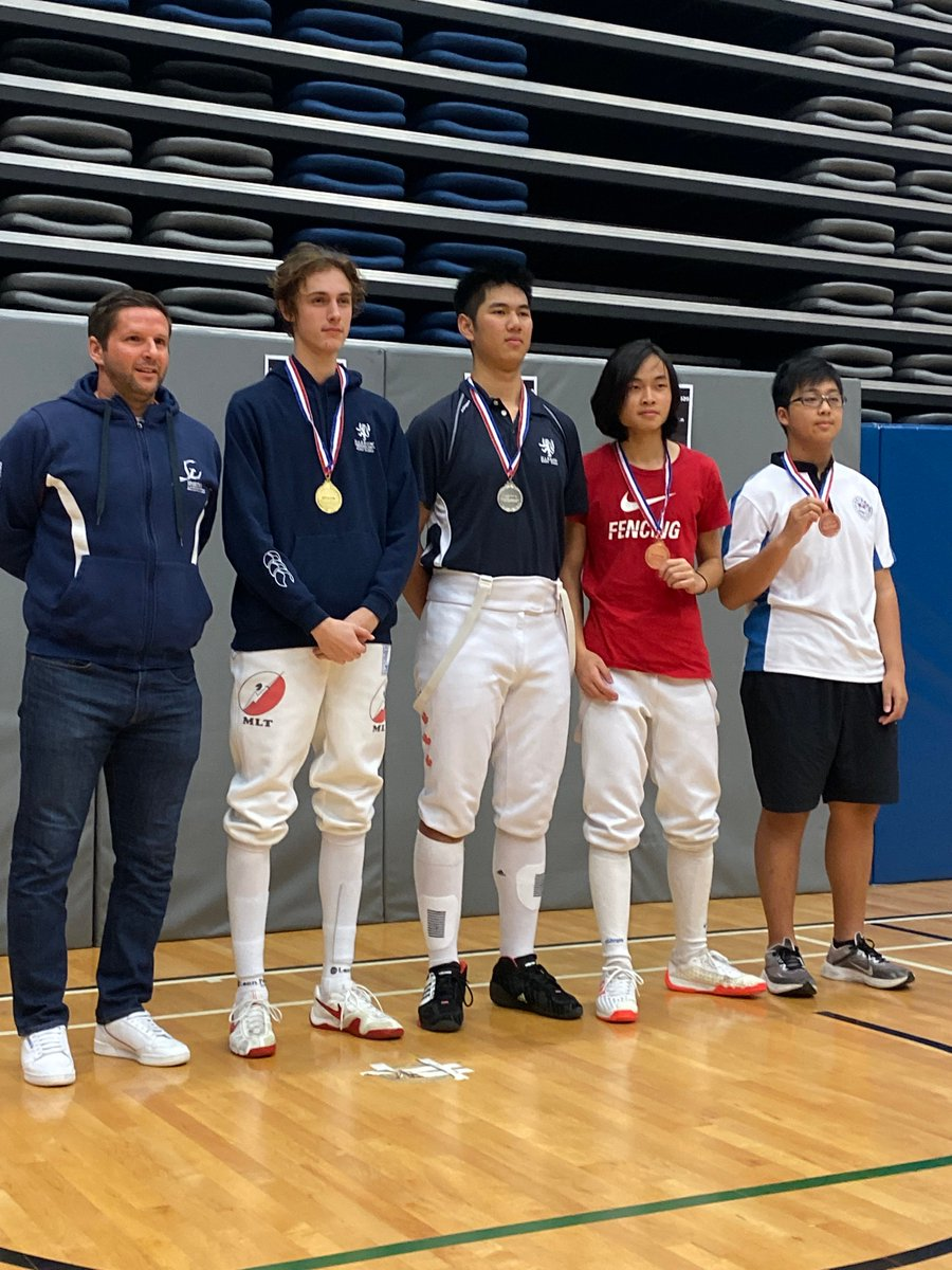 We are delighted to report that we won the recent @issfhk fencing competition! Well done to:   Tim: Silver medals in Epee Victor: Gold medal in Epee Dominic: Gold medal in Sabre Anson: Silver medal in Sabre  @issfhk thank you for the photos! @HarrowhkSca