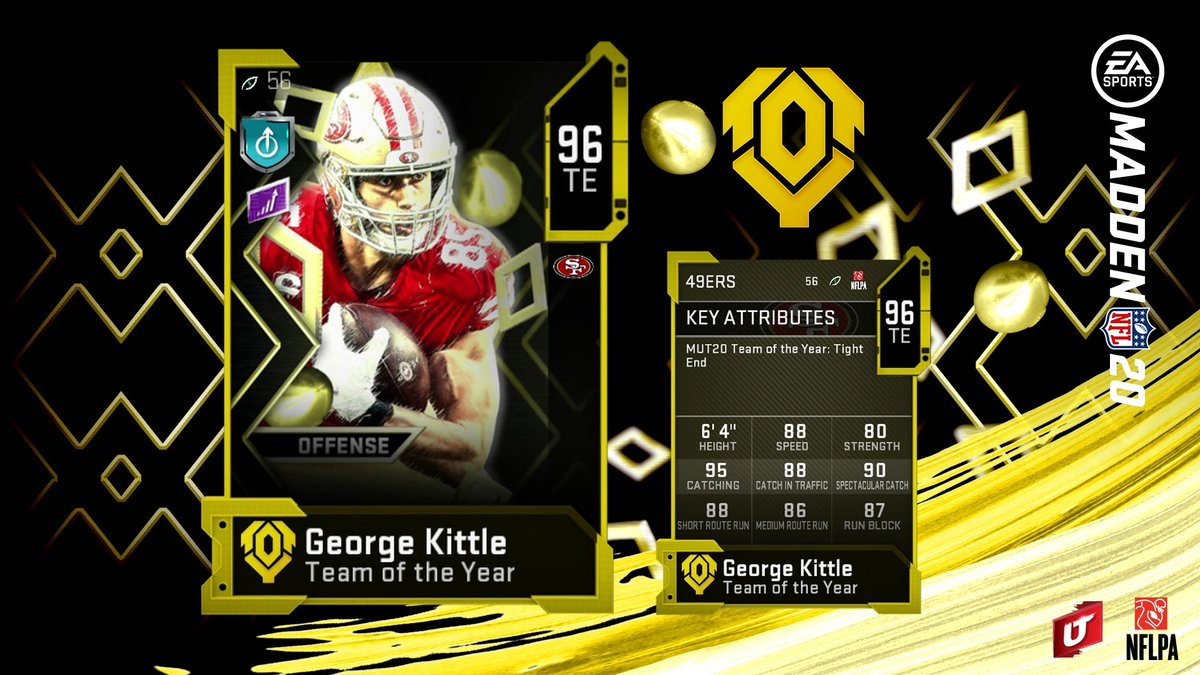 Replying to @EASPORTS_MUT: @EAMaddenNFL @tkelce @gkittle46 🤔 RT & Comment above for a chance to win TOTY George Kittle!