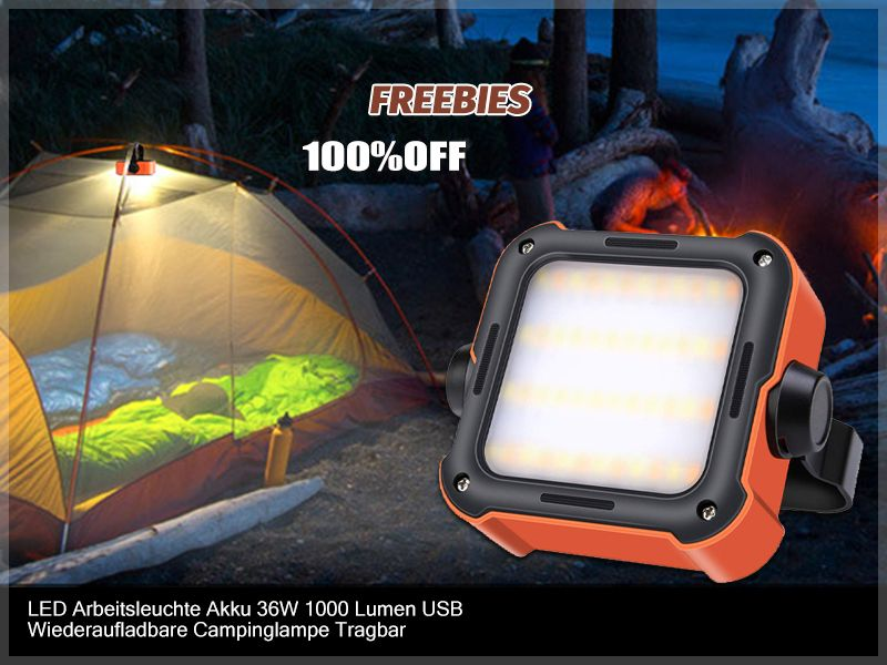New 830-250 Battery operated Coleman Portable Magnetic Tent Light