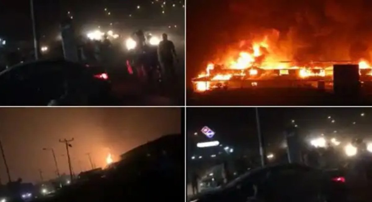 A pipeline explosion at Ile Epo around the Abule Egba area of Lagos. #RIP to them lost souls. #SafetyFirst <br>http://pic.twitter.com/bjiUlqHyOk