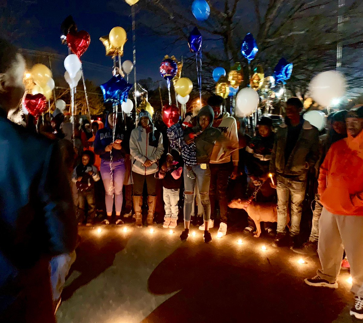 """""""We're all family over here in 75216. We love our community too just like anyone else.""""  A community gathered to remember 18yo Marc Strickland. They say he was known for his lively personality and athleticism long before his name was in the news. Story tonight on @NBCDFW at 10."""