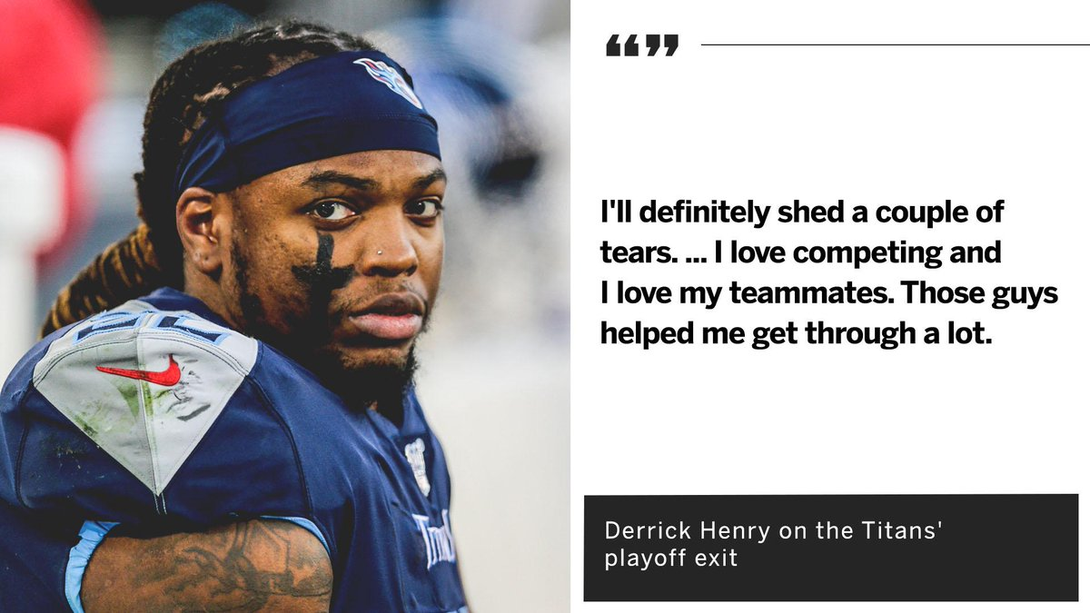 Derrick Henry felt like he 'could have done more for the team' in the Titans' loss to the Chiefs.