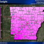 Image for the Tweet beginning: Low temperatures tonight will be