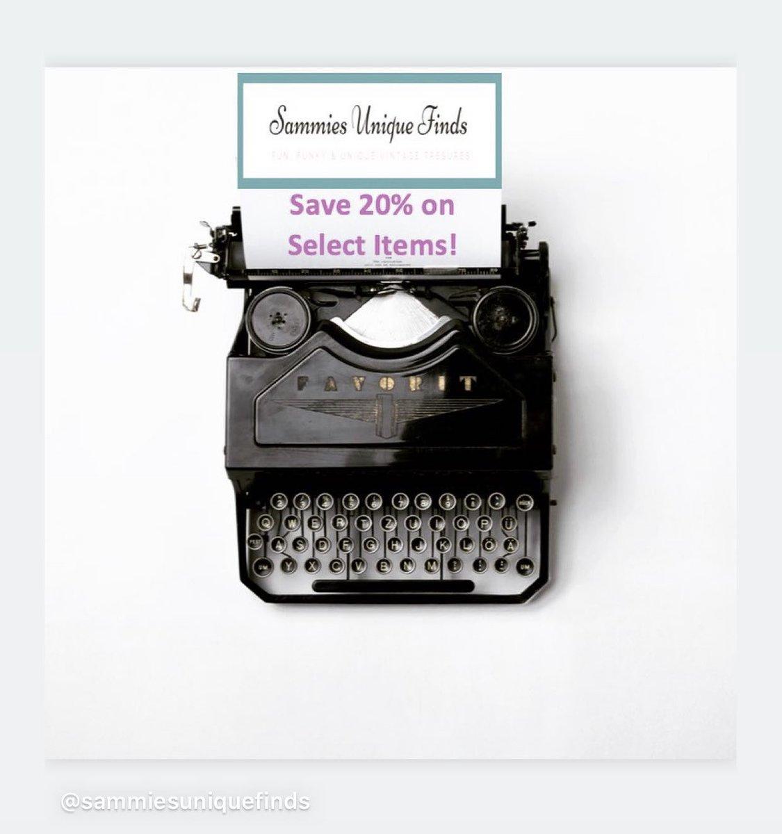 Shop my sale: 20% off select items #sammiesuniquefinds #etsyfinds #etsygifts #etsysale #etsycoupon #shopsmall https://etsy.me/2NIqJkfpic.twitter.com/tFlBOHAerE