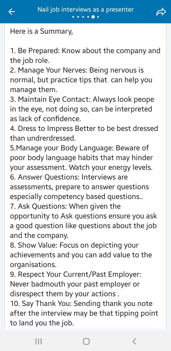 Here is 10 interview tips , to get you that job...pic.twitter.com/y115yS7U4p