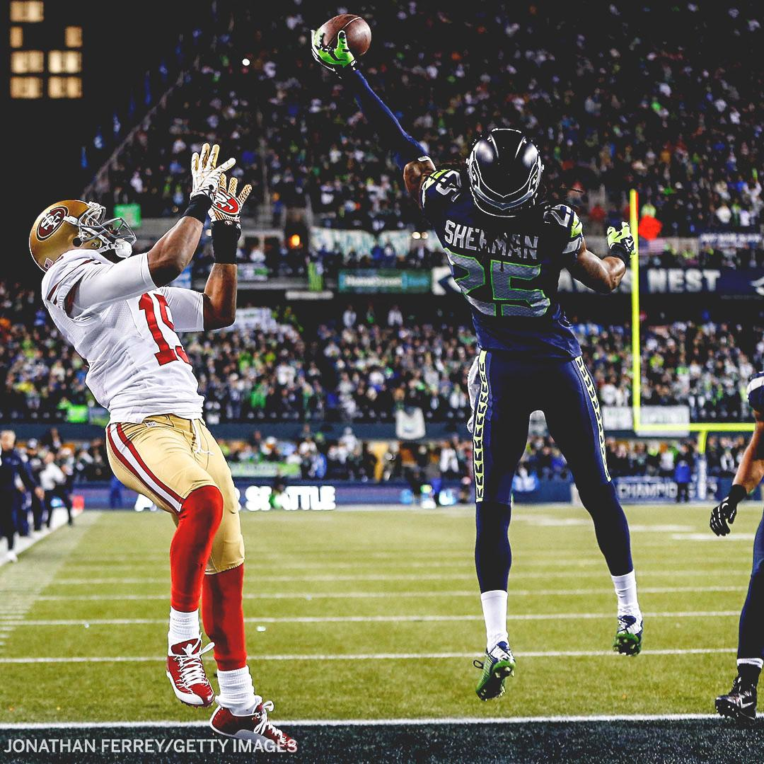 It was six years ago today that Richard Shermans tipped pass kept the 49ers out of the Super Bowl. Tonight, his late-game INT sealed the W and a trip to Super Bowl LIV.