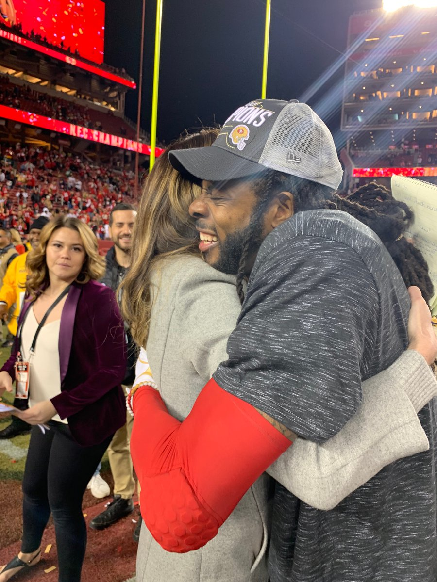 Erin Andrews Sends Message To Richard Sherman After NFC Championship
