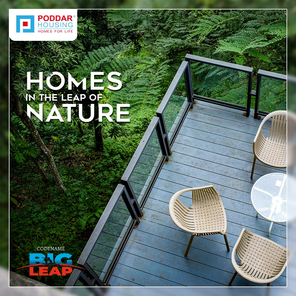 Would you prefer waking up to the sound of heavy traffic or the melodious chirping of birds? Get yourself a home at Codename Big Leap in #Kalyan & bask in the lap of #Nature, right at home.  To know more: http://codenamebigleap.com/ #PoddarHousing #India #WhyKalyan#NatureLover #Homepic.twitter.com/TygTNzd3j3