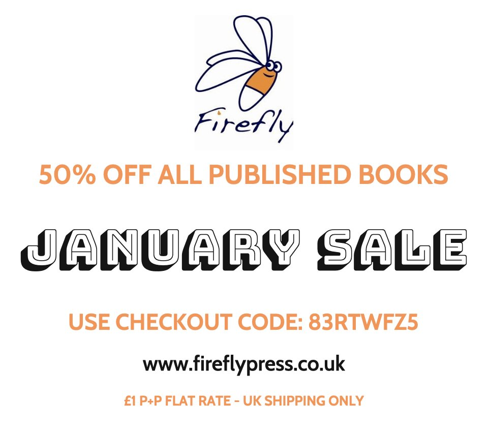📣Just two weeks left to take advantage of our bargain half price January sale running until midnight 31 January 2020 with 50% off all published books! 👉 fireflypress.co.uk #MGlit #yalit #kidsbooks #januarysale