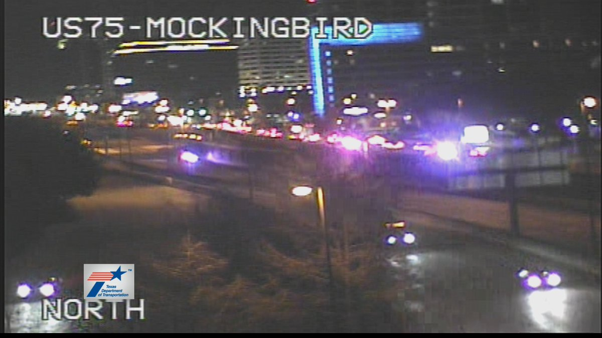 Accident in Dallas has 75 NB CLOSED at SMU Blvd. All traffic forced to exit at Mockingbird Ln. @nbcdfw  #DFWTraffic