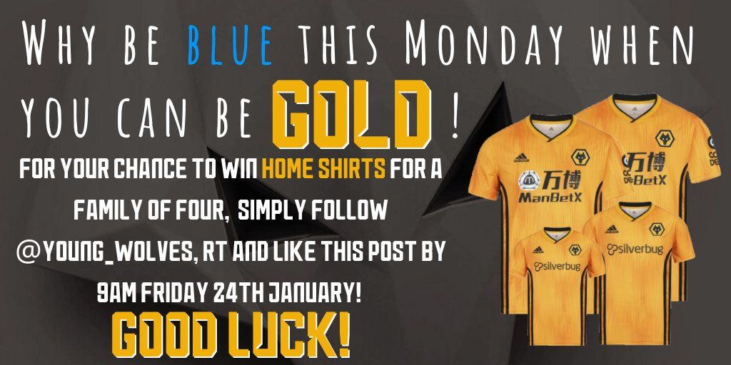 COMPETITION ALERT  Lets turn this #BlueMonday GOLD!  Want to win home shirts for you and your family?  Check out the details below!<br>http://pic.twitter.com/P1YztVrZvl