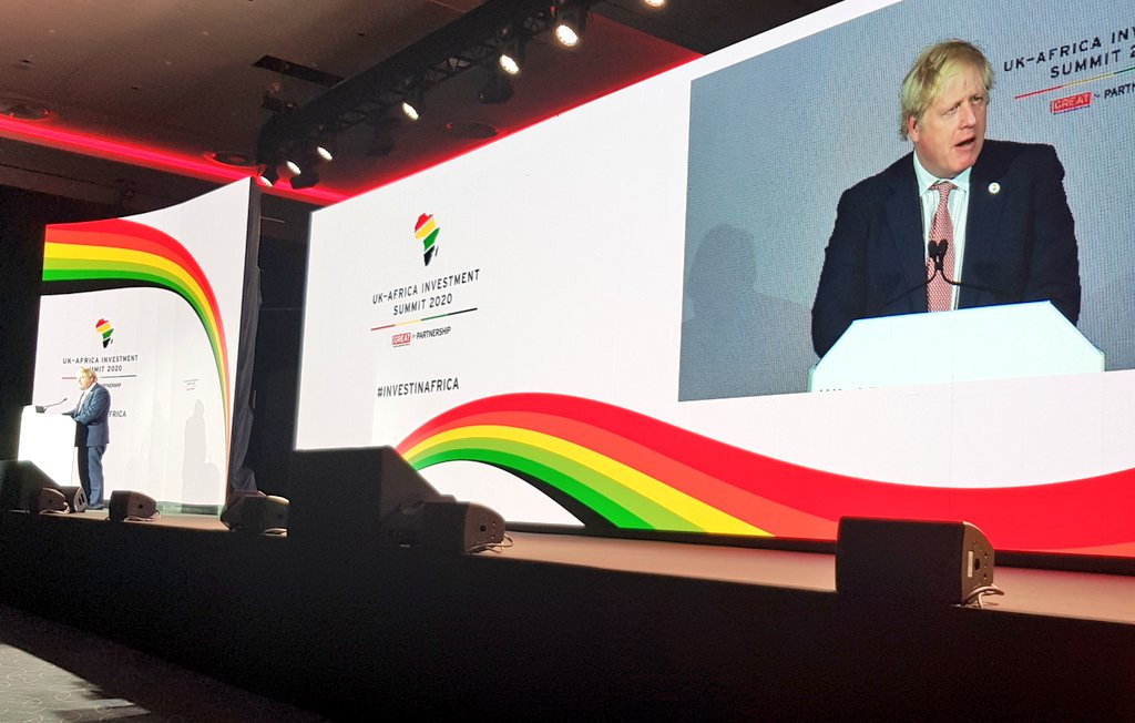 PM talking about our huge opportunities to deepen trade with Africa:   8 of 's 15 fastest growing economies are in Africa   investment in Africa reached £39bn in 2018  13% on previous year  firms just announced £6.5bn of deals  #UKAfricaInvestmentSummit<br>http://pic.twitter.com/1rT5UC3uDk
