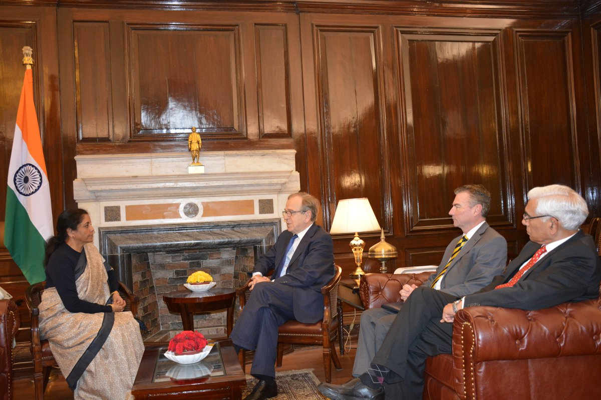 Delegation from the International Financial Reporting Standards Foundation calls on Smt @nsitharaman