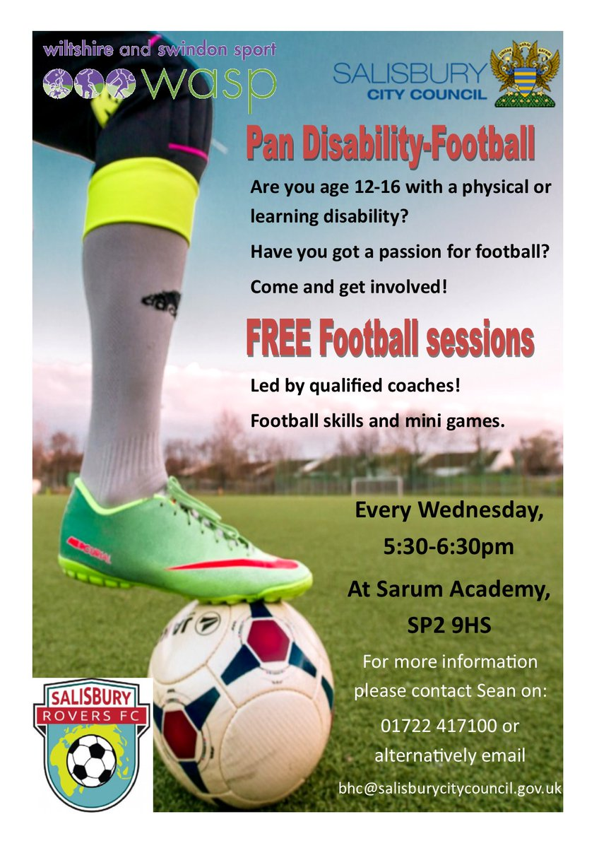 Latest News: Salisbury City Council's Pan Disability Football Team has moved indoors for the winter https://www.salisburycitycouncil.gov.uk/latest-news/item/salisbury-city-council-s-pan-disability-football-team-has-moved-indoors-for-the-winter …pic.twitter.com/kLVfR64J6B